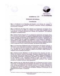 Ecuadoran Environment Ministry declaration dissolving Fundación Pachamama